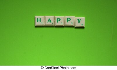 """Created words of """"Happy Birthday"""" with the letters on the..."""