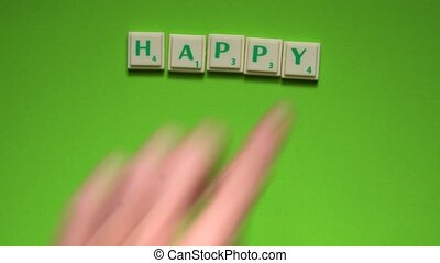 """Created words of """"Happy New Year"""" with the letters on the..."""