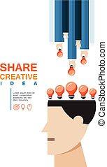 creatief, aandeel, idee