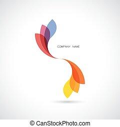 creatief, abstract, vector, logo, ontwerp, mal