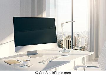 creatief, desktop, bovenkant