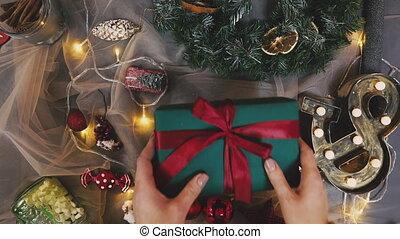 creatief, hobby., cadeau, wrapping., verpakking, moderne,...