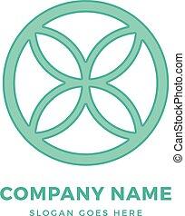 creatief, vector, template., cirkel, logo, abstract, meldingsbord, ontwerpen basis, vorm., concept, logotype, bloem, pictogram