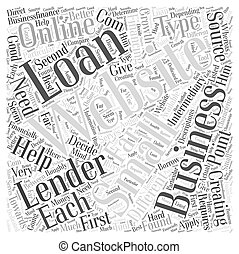 Creating small business loans online Word Cloud Concept