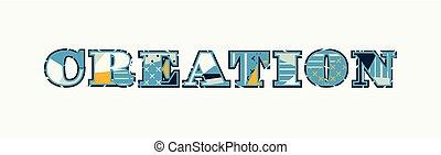 Creation Concept Word Art Illustration