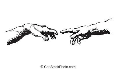 Creation of Adam - My hand drawn impression of...