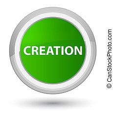 Creation prime green round button