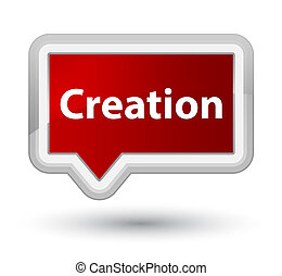 Creation prime red banner button