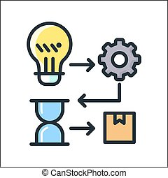 creation process icon color