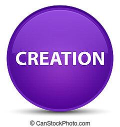 Creation special purple round button