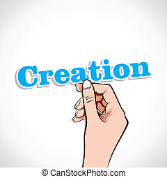 Creation Word In Hand
