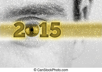 Creative 2015 New Year background