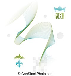 Creative 3d delicate background with abstract flowing lines. Aer