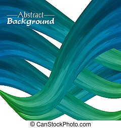 Creative abstract background for your design. Vector illustration. Green and blue colors