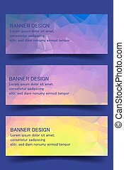 Creative abstract banner set