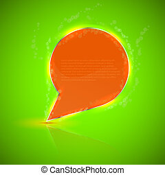 creative abstract bubble speech with place for your text. Vector illustration
