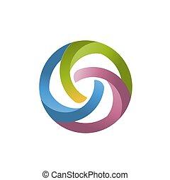 abstract colorful circle logo