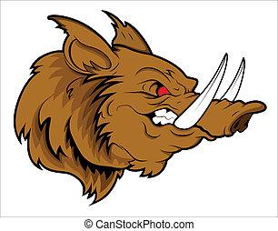 Aggressive Head Pig Mascot - Creative Abstract Conceptual...