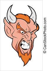Angry Demon - Creative Abstract Conceptual Art Design of ...