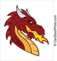 Dragon Vector Mascot - Creative Abstract Conceptual Art...