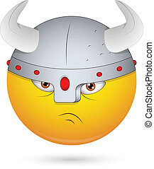 Warrior Viking Smiley Face