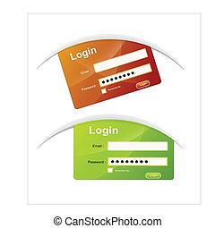 Login Box Vectors - Creative Abstract Conceptual Business...