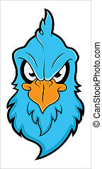 Angry Chicken Mascot Illustration