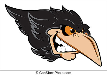 Creative Abstract Conceptual Design Art of Angry Crow