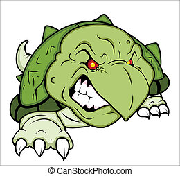 Angry Turtle Mascot - Creative Abstract Conceptual Design...