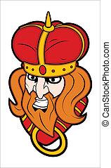 Bad King Mascot Vector