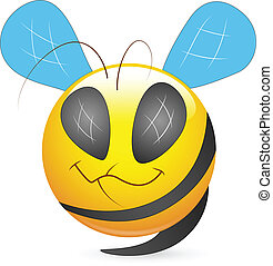 Bee Smiley Character Face