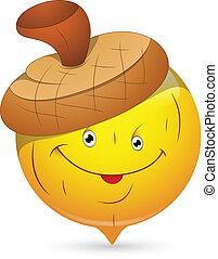 Beechnut Smiley Character Face