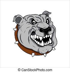 Bulldog Mascot Tattoo Vector