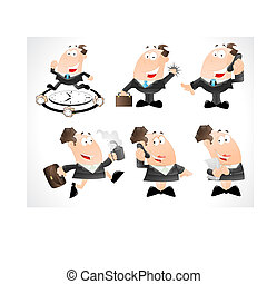 Business Man Vector Cartoons