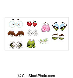 Cartoon Eyes Vectors