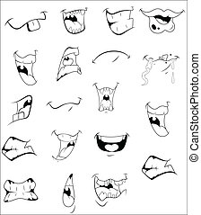 Cartoon Mouths Vectors