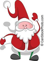 Cartoon Santa Christmas Vector