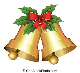 Christmas Holiday Bells Vector