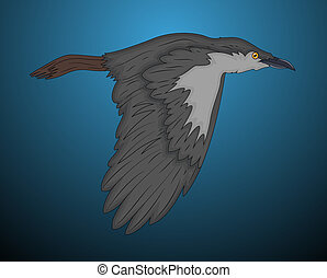 Classic Crow Vector Illustration