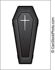 Creative Abstract Conceptual Design Art of Coffin Vector