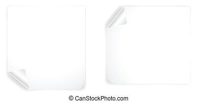 Curled Paper Box Vectors