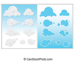 Cute Clouds Vector