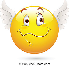 Cute Cupid Angel Smiley Face