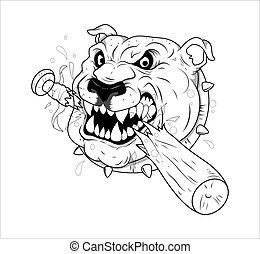 Dog Tattoo Vector