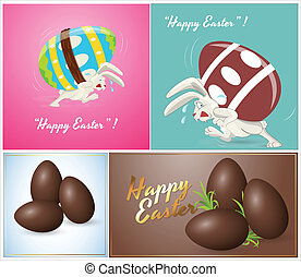 Easter Eggs Vector Backgrounds