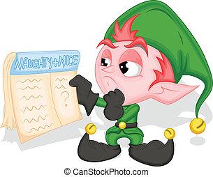Elf Holding Naughty and Nice List