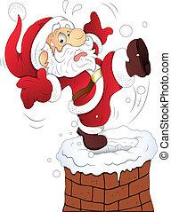Funny Santa Christmas Vector