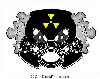 Gas Mask Mascot Tattoo Vector