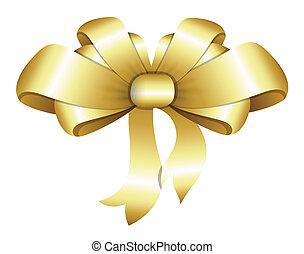 Golden Bow Christmas Vector