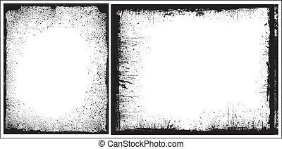 Grunge Edges Frames Vector